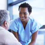 Chatting with a patient